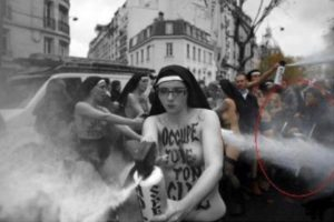 Femen agression poussette MPI