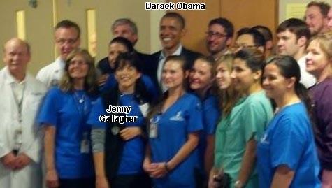 Jenny Gallagher et Obama Jul-22-2012