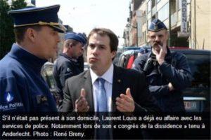 La police débarque chez Laurent Louis à la suite d'un canular