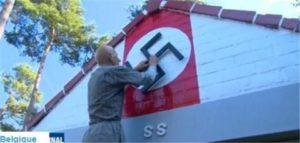 Belgique : Fan d'Hitler, il décore sa maison avec des croix gammées