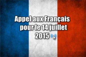 Appel aux Français   pour le 14 juillet 2015