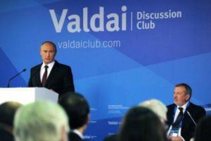 L'Ordre mondial : De nouvelles règles ou un jeu sans règles ? Discours de Vladimir Poutine au club Valdaï, le 24 octobre 2014