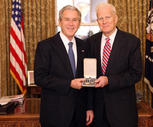 Le president George W Bush