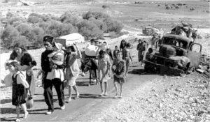 Réfugiés palestiniens lors de l'exode de 1948 - Nakba