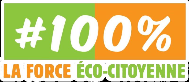 """""""100% La Force Éco-Citoyenne"""" 100% mondialiste."""