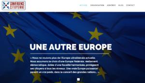 """Page d'accueil du site de """"Convergence Citoyenne""""."""