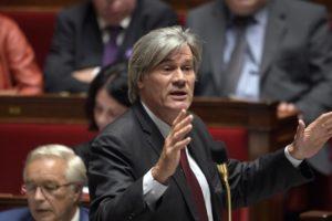Le ministre de l'Agriculture et porte-parole du gouvernement, Stéphane Le Foll, dans l'hémicycle de l'Assemblée nationale le 4 novembre 2014 Crédit : AFP / MARTIN BUREAU