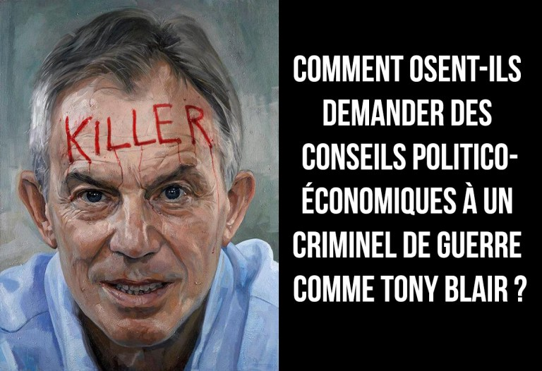 tony blair criminel