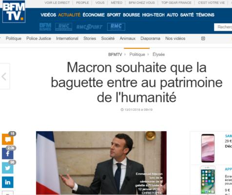 2018-01-13 20_26_52-Macron souhaite que la baguette entre au patrimoine de l