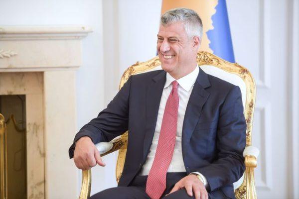 Le président du Kosovo Hashim Thaçi, le 11 octobre 2017 à Pristinia