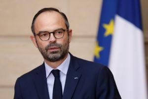 Édouard Philippe lors de l'annonce de l'abandon du projet de construction de l'aéroport de Notre-Dame-des-Landes, le 17 janvier 2018 Crédit : CHARLES PLATIAU / POOL / AFP