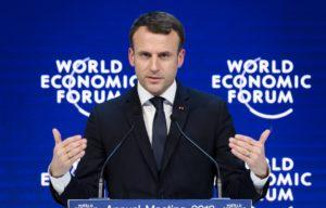 Emmanuel Macron à Davos le 24 janvier 2018. — Fabrice COFFRINI - AFP