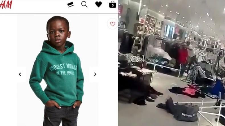 H&M © Capture d'écran site H&M UK et capture d'écran vidéo Twitter @abramjee