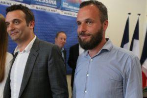 L'ancien vice-président du Front National Florian Philippot et son frère Damien. Crédit FRANÇOIS NASCIMBENI - AFP