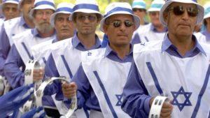 Parade de chrétiens sionistes à Jérusalem, le 24 septembre 2002 Reuters Reinhard Krause
