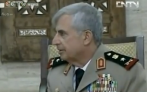 Syrian Chief of Staff General Ali Abdullah Ayoub (photo credit image capture from YouTube video uploaded by GoUTube123)