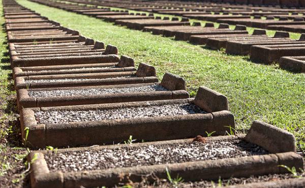 Des tombes de victimes des camps de concentration britanniques lors de la Guerre des Boers