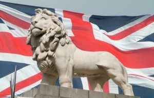 British lion and Union flag