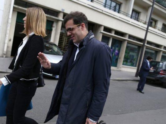 Ismaël Emelien, au Quai-Branly le 13 mai à Paris, pour le lancement de la campagne des législatives de la République En Marche. (CHARLY TRIBALLEAU / AFP)
