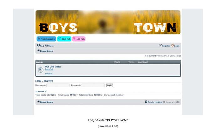 La plateforme pédopornographique Boystown de 400 000 membres démantelée en Allemagne